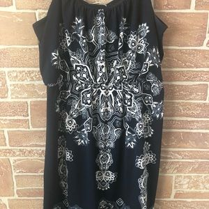 Navy blue spaghetti strap dress